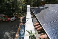 Paneles solares en la Comuna 13 de Medellín.