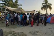 Migrantes varados en Necoclí, Urabá antioqueño.