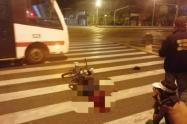 Ladrón que hurto una bicicleta murió arrollado por un bus en Medellín