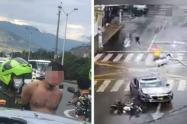 [Video] Motociclista y pasajero luchan por vivir: impactante accidente en Bello
