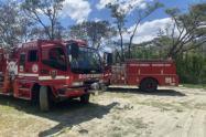 Incendio de cobertura vegetal en Bello, Antioquia.