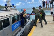 Rescate de cuerpos de náufragos de una embarcación en Acandí, Chocó.