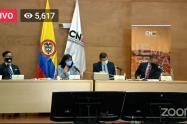 La diligencia se transmitió por las redes sociales del CNE.