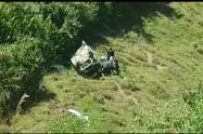 Lugar del accidente en El Carmen de Atrato.