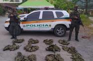 Este material pretendía ser distribuido entre las estructuras criminales que delinquen en el departamento.