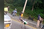 Falleció motociclista en terrible accidente en la vía Medellín – Bogotá