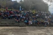 Campesinos desplazados en Ituango, Norte de Antioquia.
