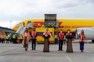 Presidente Iván Duque, durante la llegada de las vacunas a Colombia