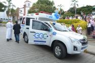 Ambulancia del Hospital Guillermo Gaviria Correa de Caicedo, Antioquia.