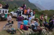 Familias desplazadas en Peque, Antioquia.