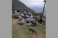 Campesinos desplazados en Peque, Antioquia.