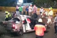 Falleció conductor que protagonizó terrible accidente en el barrio El Poblado de Medellín