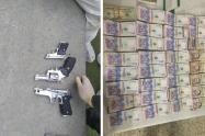 Hallan tres armas de fuego en vehículo que cayó del quinto piso de un edificio en Medellín