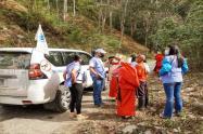 Funcionarios de Acnur visitaron a los indígenas desplazados en Ituango, Antioquia.