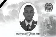Patrullero Diego Fernando Acevedo Pardo, asesinado en Liborina, Antioquia.