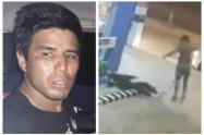 Video de la salvaje golpiza que le dio un hombre a su expareja en plena calle