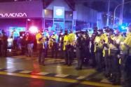 Homenaje a policía Asesinado en Bogotá