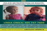 Niña desaparecida en Bogotá