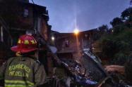 Se desplomó una casa en Campo Valdés y dos niños resultaron heridos
