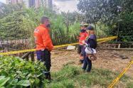 Rescate de las personas atrapadas en un derrumbe en Bello, Antioquia.