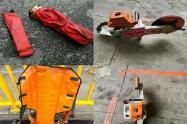 Estos son los equipos que les robaron a los Bomberos en Medellín.