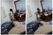Mujer acosada en China