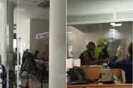 """El terror de empleados de banco vandalizado en Cali: """"Acá hay personas"""""""