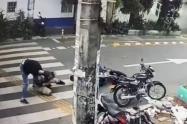 Víctima se enfrenta a grupo de fleteros en el barrio Boston de Medellín