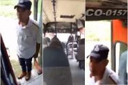 Conductor de buseta amenazó con machete a sus pasajeros para que se bajaran en un 'peladero'