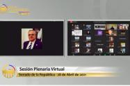 Sesión virtual Senado Iván Name