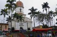 Parque principal de Ituango, Norte de Antioquia.