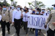 En Caucasia exigen justicia y piden esclarecer el homicidio del gerente del hospital César Uribe Piedrahita.