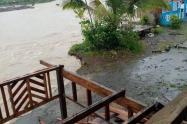 Inundaciones en Vigía del Fuerte por el desbordamiento de los ríos Murrí y Arquía.