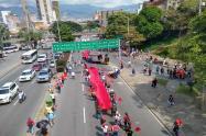 Movilización por el centro de Medellín.