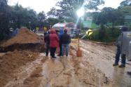 Lugar del derrumbe en Sonsón, Antioquia.