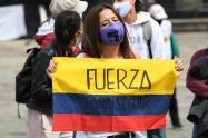 Protestas en medio del paro nacional, en Bogotá.
