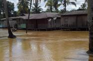 Inundaciones en Medio Baudó en Chocó.