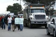 Fiscalía aplicará extinción de dominio a camiones que participen en protestas y bloqueen las vías