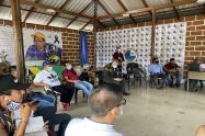 Definiendo la logística para la minga indígena en Medellín.