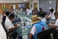 Reunión con la minga indígena de Antioquia.