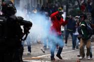 Disturbios en Bogotá durante las marchas