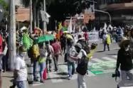 Con vigilancia de personal de la ONU, se cumple a esta hora las movilizaciones en Medellín