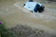 El automotor terminó en un río del suroeste antioqueño.