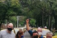 Las protestas de taxistas en Medellín tienen infartada varias vías de la ciudad