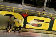 Soldados del Ejército habrían borrado mural pintado durante las marchas de Medellín