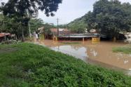 Inundaciones en Bolombolo en Venecia por el desbordamiento del río Cauca.