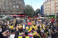 Manifestaciones en el País Vasco en apoyo a Paro Nacional en Colombia
