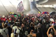 Referencia marchas en Medellín.
