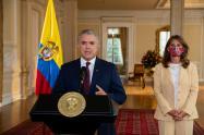 Presidente Iván Duque y la vicepresidenta Marta Lucía Ramírez