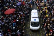 Ambulancia manifestaciones Colombia